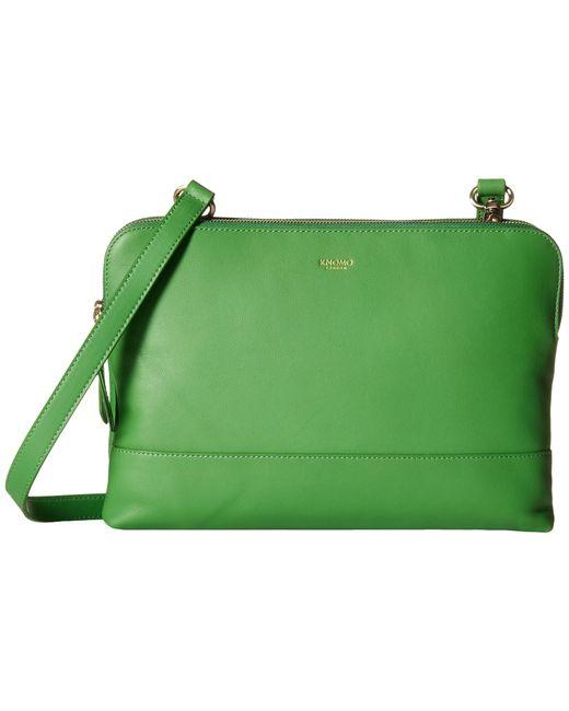 Knomo   Green Davies Leather Crossbody Bag   Lyst