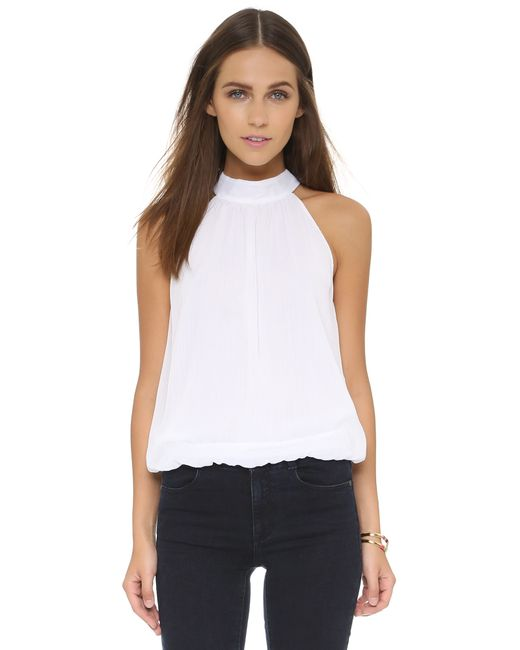 Alice + Olivia | White Gretchen Long Front Slit Tunic | Lyst