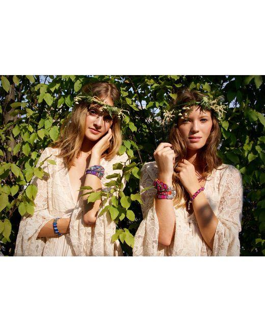 Ix Style | Purple Maroon Striped Layering Bracelet | Lyst