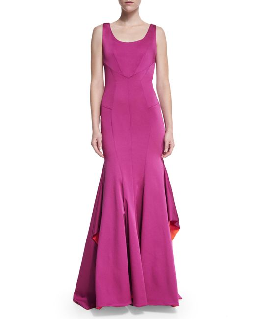 Zac Zac Posen | Pink Katherine Sleeveless Mermaid Gown | Lyst