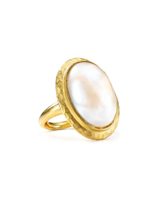Kenneth Jay Lane | White Oval Faux-pearl Ring | Lyst