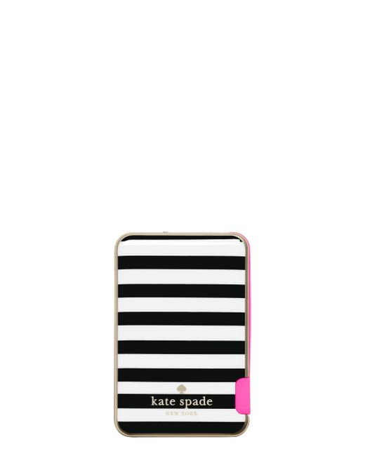 Kate Spade | Black Stripe Slim Battery Bank | Lyst