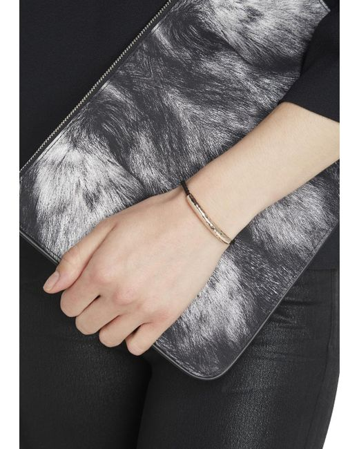 Monica Vinader | Black Esencia 18kt Rose Gold-plated Bracelet | Lyst