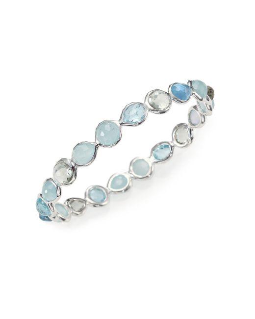 Ippolita | Blue Rock Candy Semi-precious Multi-stone & Sterling Silver Mini Hero Bangle Bracelet | Lyst