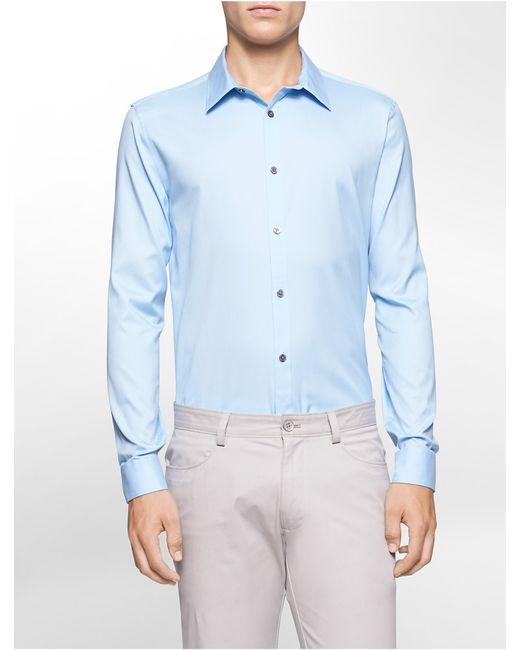 Calvin Klein | Blue Classic Fit Cool Tech Oxford Shirt for Men | Lyst