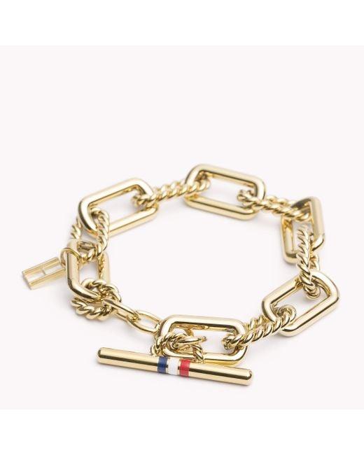 Tommy Hilfiger   Metallic Signature Bracelet   Lyst
