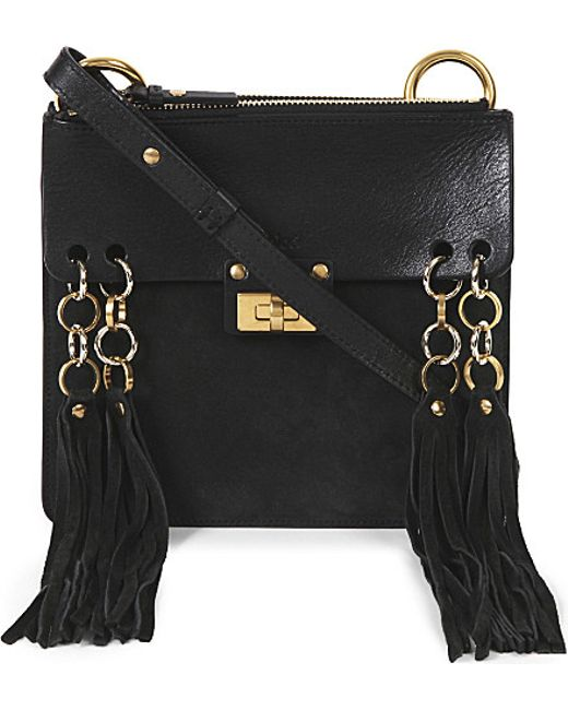 fake chloe bags uk - Chlo�� Jane Suede Cross-body Bag in Black | Lyst