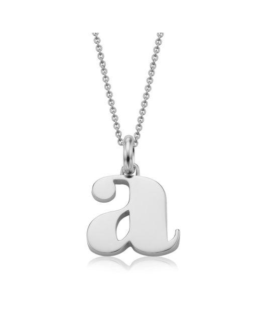 Monica Vinader | Metallic Alphabet Pendant A | Lyst