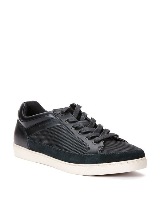 Calvin Klein | Black Zal Suede And Leather Lace-up Sneakers for Men | Lyst