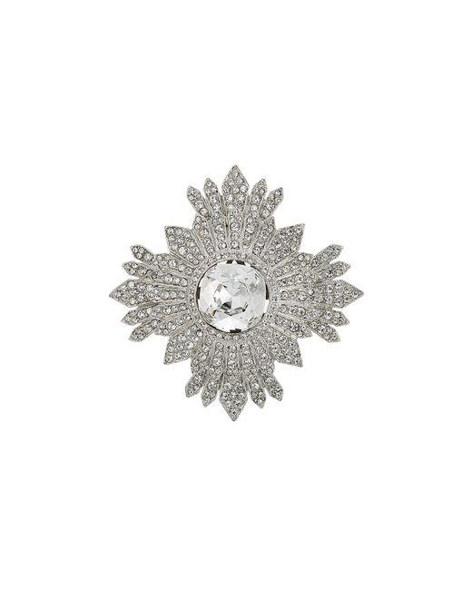 Kenneth Jay Lane | Metallic Embellished Brooch | Lyst