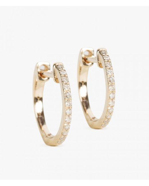 Ariel Gordon   Metallic 14k Pave Huggie Earrings   Lyst