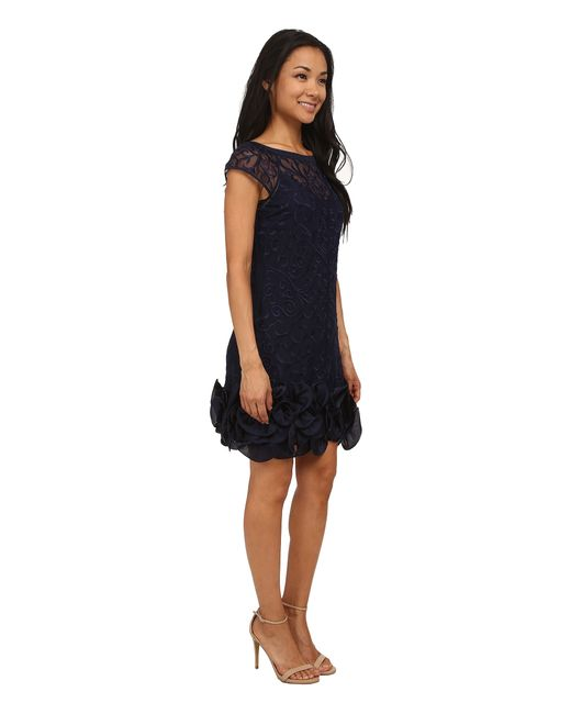 Jessica Simpson   Blue Short Tiered Sleeve Dress With Ruffle At Hem   Lyst