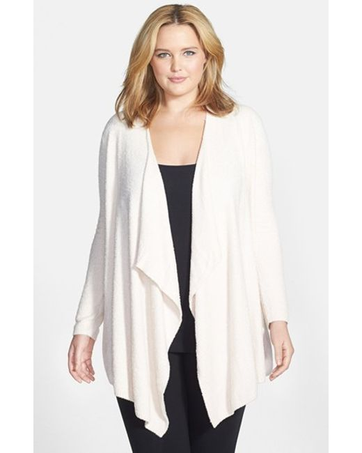 Barefoot Dreams | Pink Barefoot Dreams Drape Front Cardigan | Lyst
