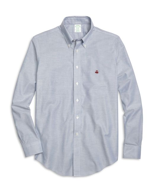 Brooks Brothers | Blue Non-iron Milano Fit Oxford Sport Shirt for Men | Lyst