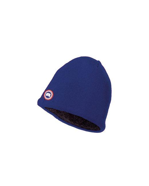Canada Goose | Blue Merino Wool Beanie | Lyst