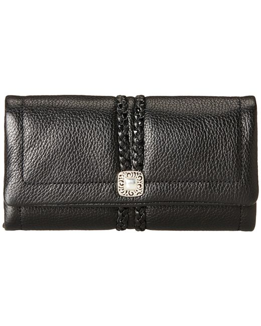 Brighton | Black Barbados Trifold Large Wallet | Lyst
