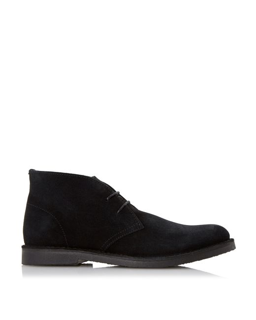 dune calabassas suede desert boots in black for lyst