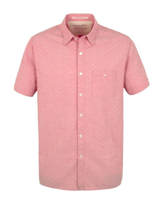 Racing Green | Pink Portrait Short Sleeve Shirt for Men | Lyst
