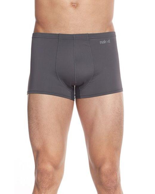 Naked | Gray Active Microfiber Trunks for Men | Lyst