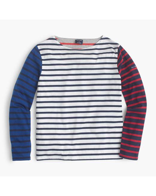 J.Crew | Blue Saint James Colorblock Stripe T-shirt | Lyst