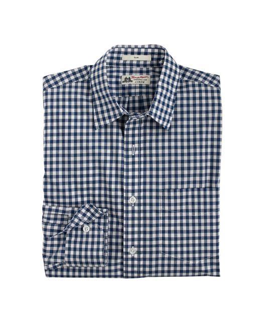 Thomas Mason | Slim Shirt In Bedford Blue Gingham for Men | Lyst