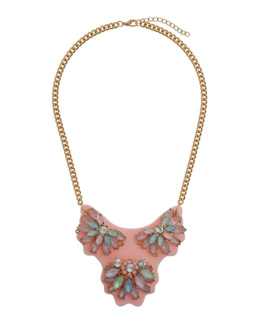 Mikey | Pink Coloured Plate With Flowers Pendant | Lyst
