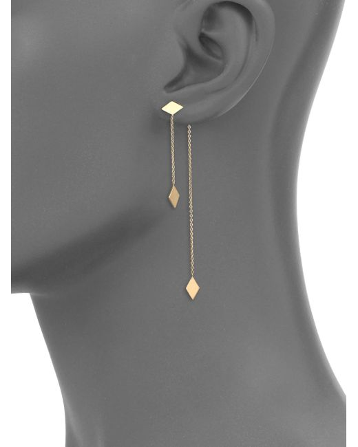 Zoe Chicco | Metallic 14k Yellow Gold Kite Ear Jacket & Drop Earrings Set | Lyst