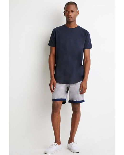 Forever 21 | Gray Contrast-cuff Shorts for Men | Lyst