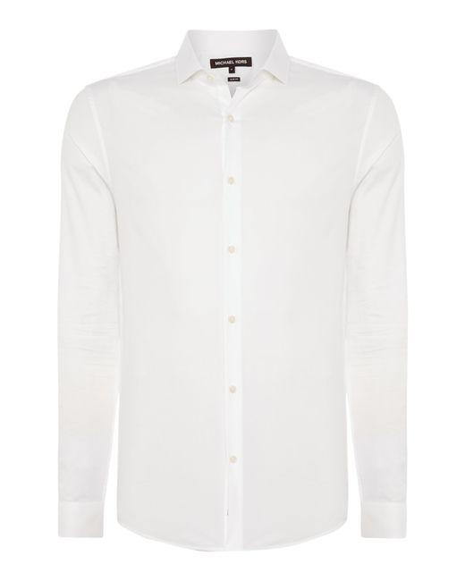 Michael Kors | White Slim Fit Poplin Shirt for Men | Lyst