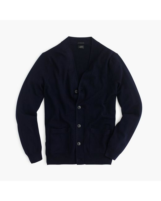 J.Crew | Blue Slim Merino Wool Cardigan Sweater for Men | Lyst