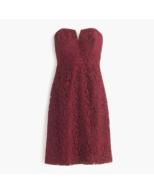 J.Crew | Purple Cathleen Dress In Leavers Lace | Lyst