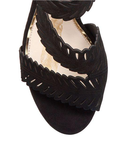 Jessica Simpson | Black Azure Suede Platform Ankle-strap Sandals | Lyst