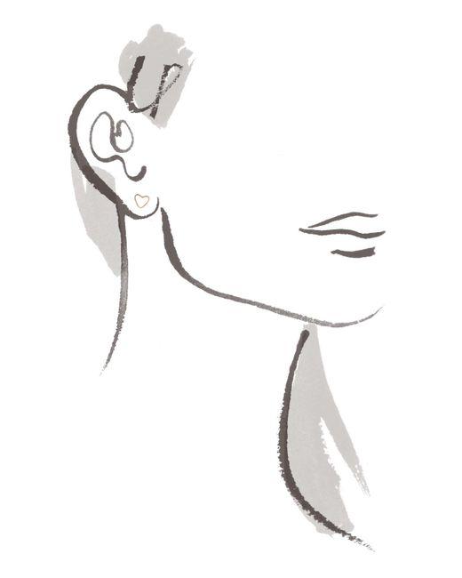 Melissa Joy Manning | Metallic Heart Stud Earring | Lyst