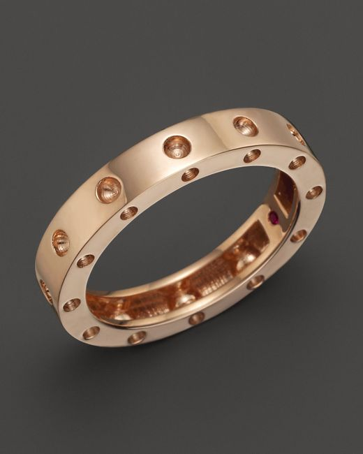 Roberto Coin | Pink 18k Rose Gold Pois Moi Round Ring | Lyst