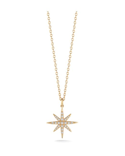 Elizabeth and James | Pink Compass Rose Necklace | Lyst