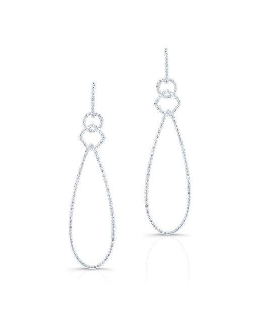 Anne Sisteron | Metallic 14kt White Gold Diamond Open Pear Link Drop Earrings | Lyst