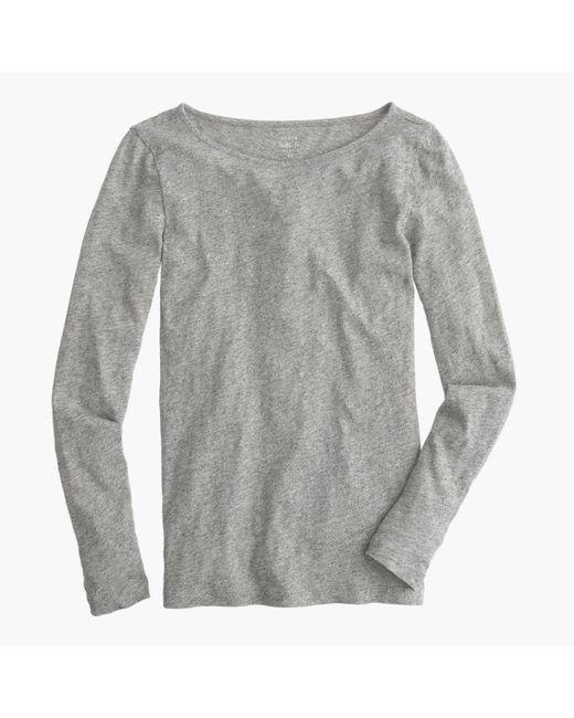 J.Crew | Gray Long-sleeve Painter T-shirt | Lyst