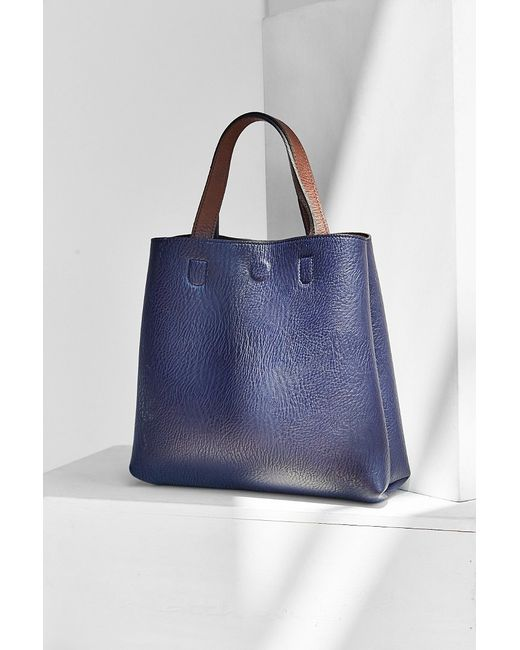 Urban Outfitters | Blue Mini Reversible Vegan Leather Tote Bag | Lyst
