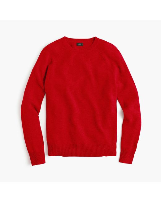 J.Crew | Red Lambswool Sweater | Lyst