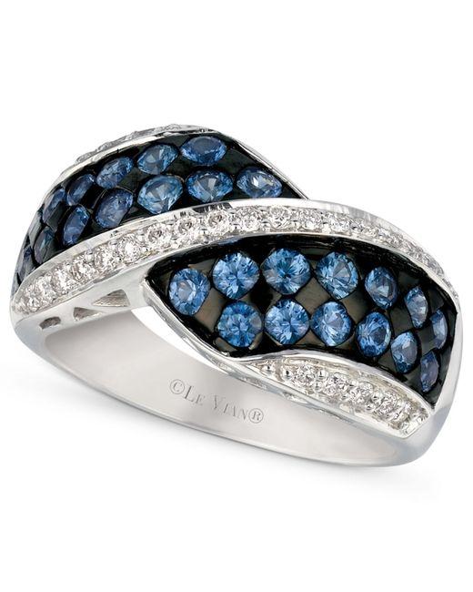 Le Vian | Metallic Ceylon Sapphire (1-1/3 Ct. T.w.) And Diamond (1/4 Ct. T.w.) Ring In 14k White Gold | Lyst