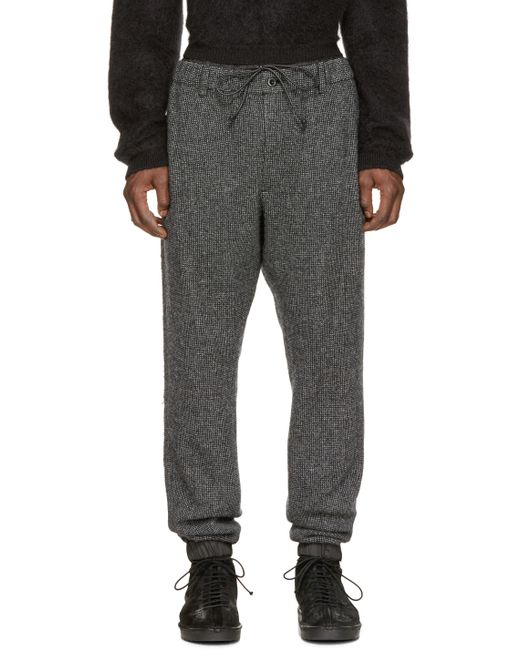 Sacai | Black & White Wool Lounge Pants for Men | Lyst