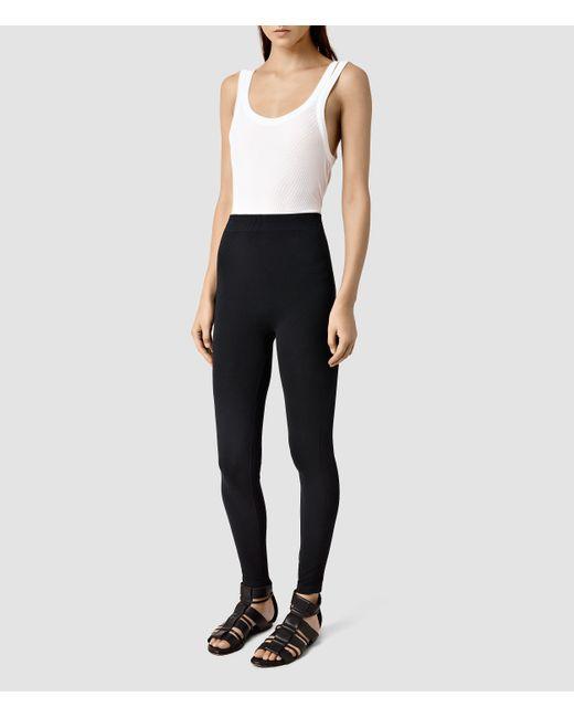 AllSaints | Black Bri Leggings | Lyst