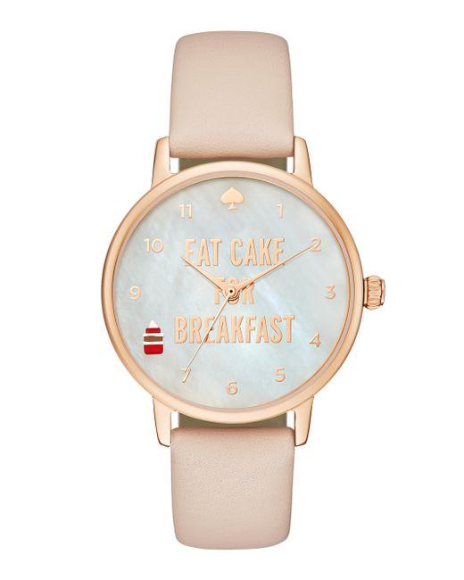 Kate Spade | Metallic Light Pink Enamel Kenmare Watch | Lyst