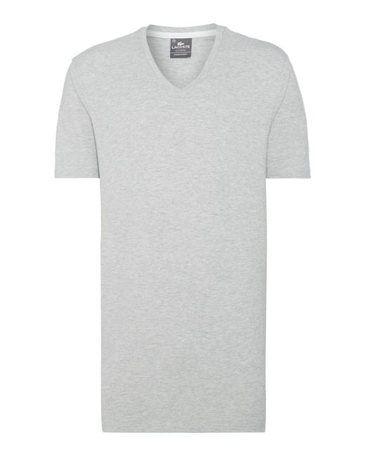 Lacoste | Gray Nightwear V-neck T-shirt for Men | Lyst