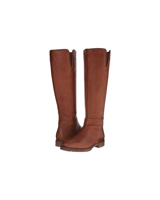 Franco Sarto | Brown Crash Wide Calf Round Toe Leather Knee High Boot | Lyst