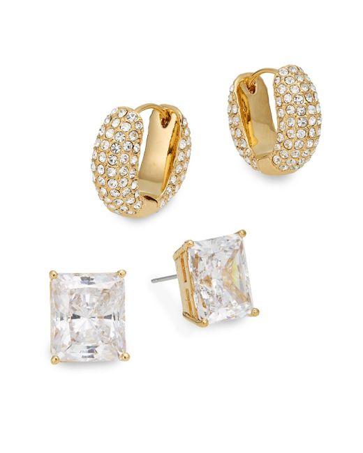 Adriana Orsini | Metallic Glitz Stud & Huggie Earring Gift Box Set/goldtone | Lyst