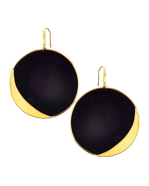 Lana Jewelry | Metallic 14k Jet Black Disc Earrings | Lyst