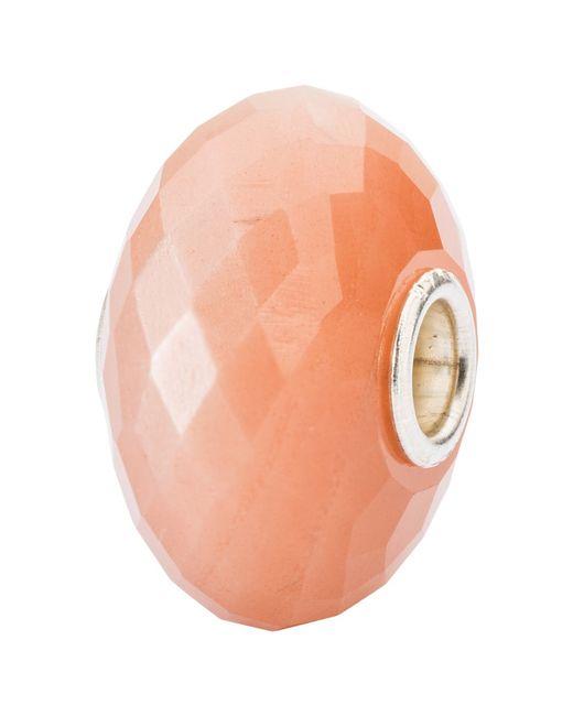 Trollbeads   Orange Sterling Silver Feldspar Moonstone Bead Charm   Lyst