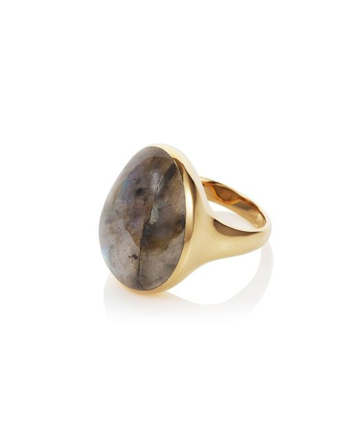 Caroline Creba | Metallic 18ct Gold Plated Sterling Silver 12ct Labradorite | Lyst