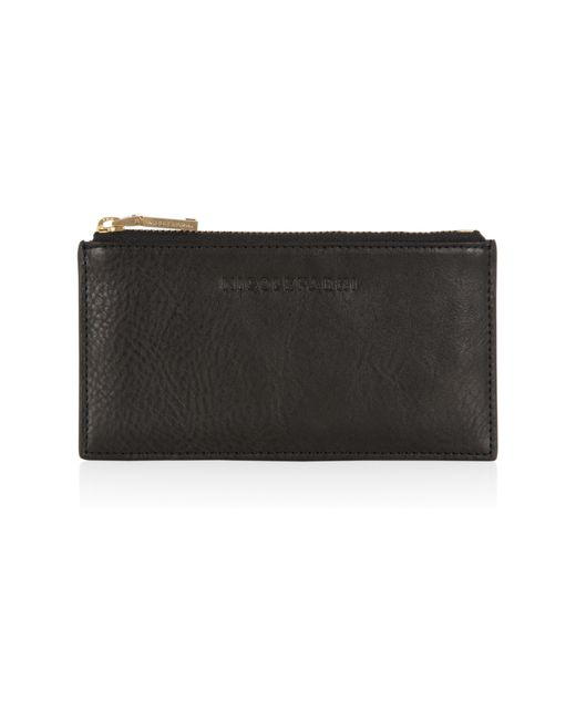 Nicole Farhi | Black Small Silk Calf Zip Top Pouch | Lyst